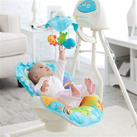 swing for babys blue sky cradle baby swing can turn your nursery into a