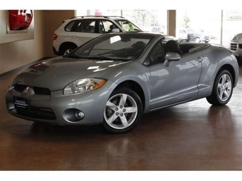 how does cars work 2007 mitsubishi eclipse transmission control sell used 2007 mitsubishi eclipse spyder gs automatic 2 door convertible in north canton ohio
