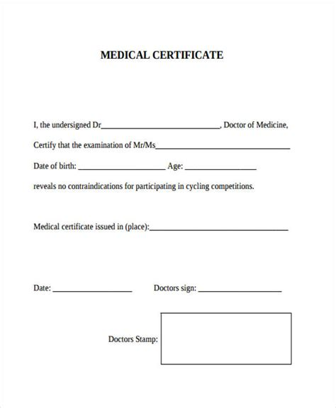 28 medical certificate templates in pdf free premium
