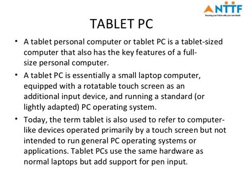Benefits of tablets