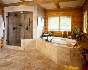 western bathroom designs two person shower rocky mountains and logs on