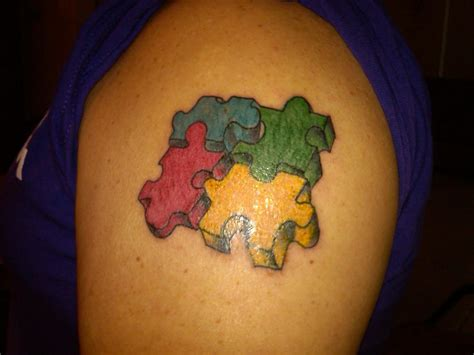 puzzle piece tattoo autism tattoos designs ideas and meaning tattoos for you