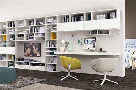 librerie con scrivania libreria con scrivania infinity system di colombini