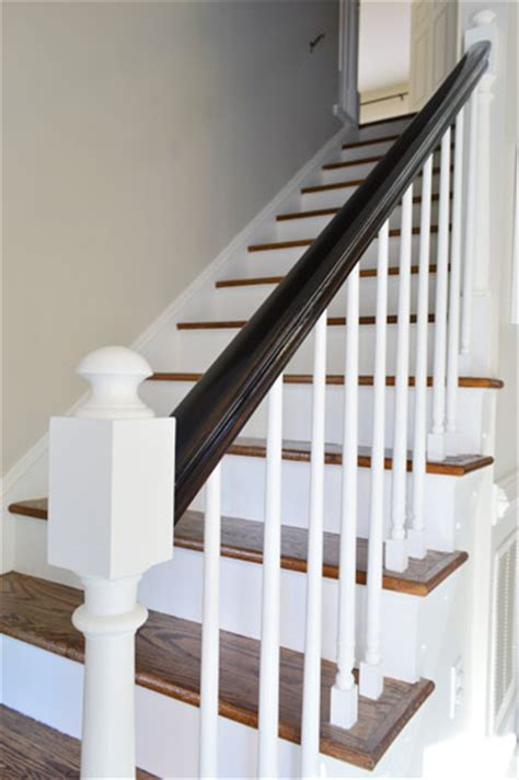 black and white banister black painted stair rail quotes