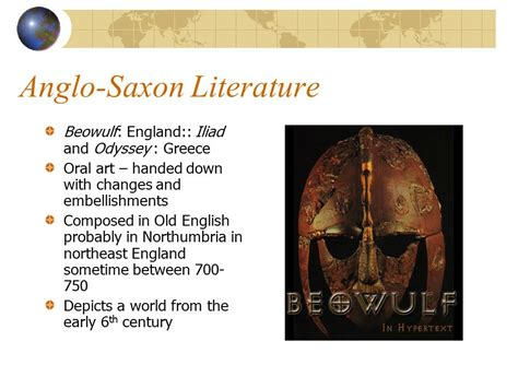 themes in anglo saxon literature the anglo saxons 449 1066 the anglo saxon period ppt
