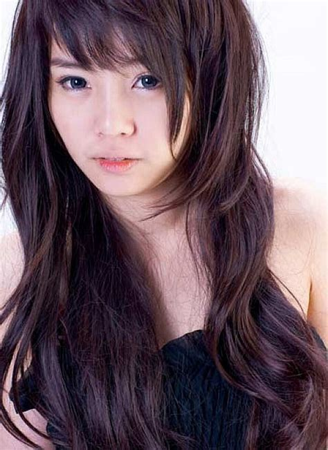 japanese haircuts for thick hair asian teenage cute hairstyles with bangs and layers for