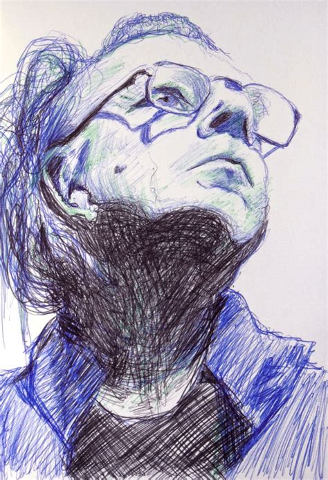 Sketches With Pen by Ballpoint Pen Portrait By Mags Phelan And Drawing