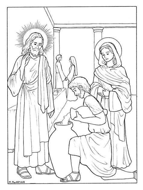 marriage at cana coloring page wedding at cana