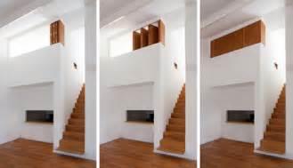 Hide Away Stairs by Bedroom Modern Wood White Bedroom Design