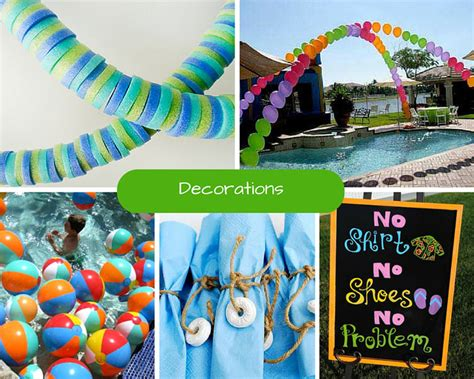 pool party ideas kids pool party ideas summer party ideas at birthday in