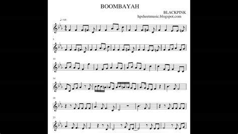 blackpink chord sheet music 악보 blackpink 블랙핑크 boombayah 붐바야 youtube