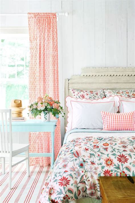 bedroom cozy red white floral motif bedroom curtains combination 3 tips and 30 ideas to refresh your bedroom digsdigs