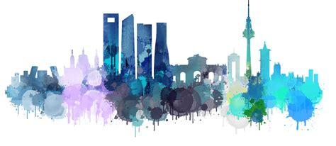 Madrid Cityscape Skyline ~ Illustrations ~ Creative Market