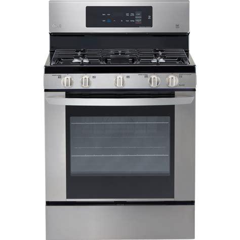 Oven Freestanding shop lg 5 burner freestanding 5 4 cu ft gas range stainless steel common 30 in actual 29