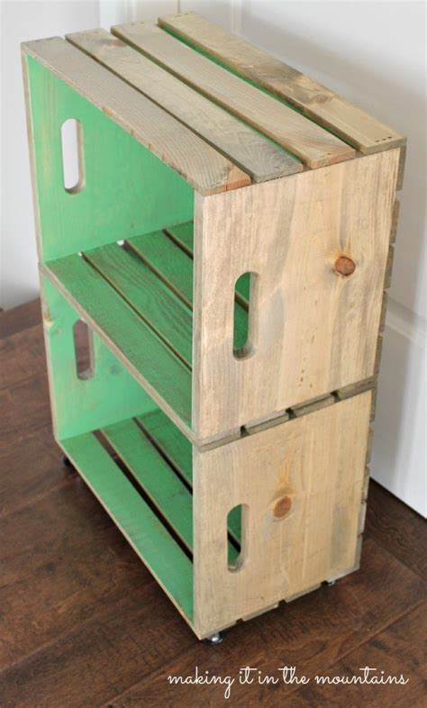 Wooden Crate Table by The Great Crate Challenge Ten Blogs One Wood Crate