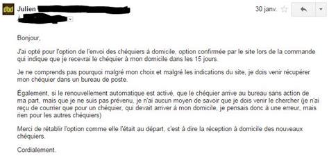 Demande Chèque De Banque Lettre Le Service Est Mort L Exemple Banque Postale La Poste Julien