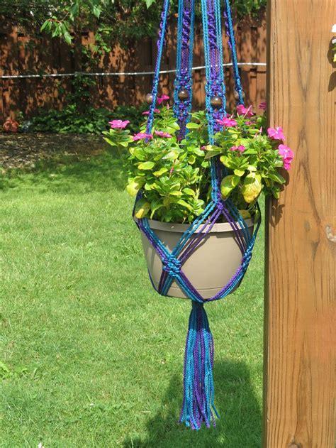 Macrame Cord For Plant Hangers - macrame plant hanger 54 quot 4mm sapphire purple macrame