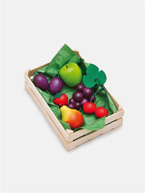 play fruit wooden fruit play food set moon picnic