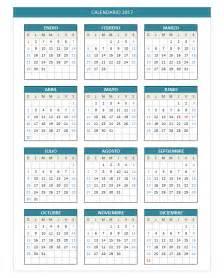 calendario 2017 domingo a s 225 bado planillaexcel