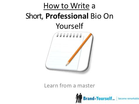 professional biography definition how to write a short professional bio ft dan schawbel