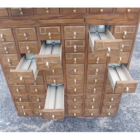 Vintage Card File Cabinet by Vintage 90 Drawer Card File Cabinet Ebay