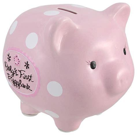 toddler piggy bank pink babys piggy bank ceramic coin bank 8 in