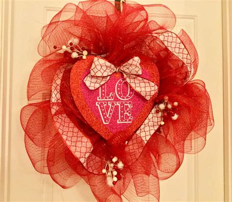 valentines mesh wreath s day dollar tree deco mesh wreath our crafty