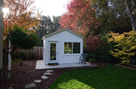 backyard office down to business with this backyard office tuff shed