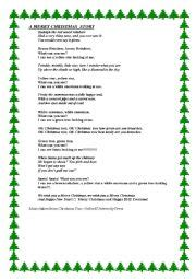 english worksheets christmas play worksheets page 3