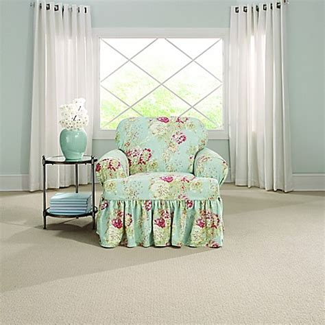 sure fit waverly ballad bouquet sofa slipcover sure fit 174 ballad bouquet by waverly t cushion chair