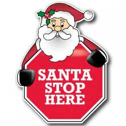 free coloring pages of santa stop here