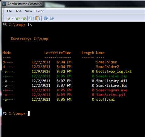 powershell colors colors powershell properly coloring get childitem