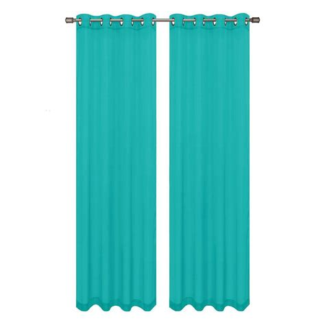 window elements diamond sheer voile turquoise grommet