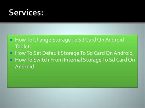to sd card android how to switch storage to sd card on android