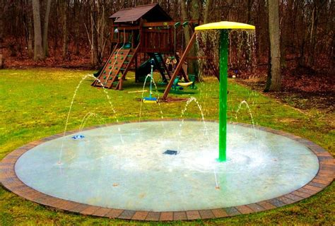backyard splash pads home splash pad residential backyard splash pad