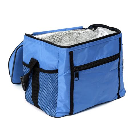 Tas Kotak Makan Insulated Thermal Lunch Bag Tote travel portable waterproof thermal cooler insulated tote picnic lunch bag royal blue