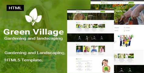 bootstrap templates for village green village garden and landscaping responsive html5