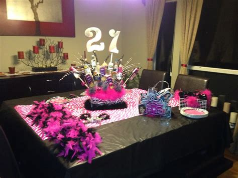 21st Birthday Decoration Ideas by 21st Birthday Table Setup Planning