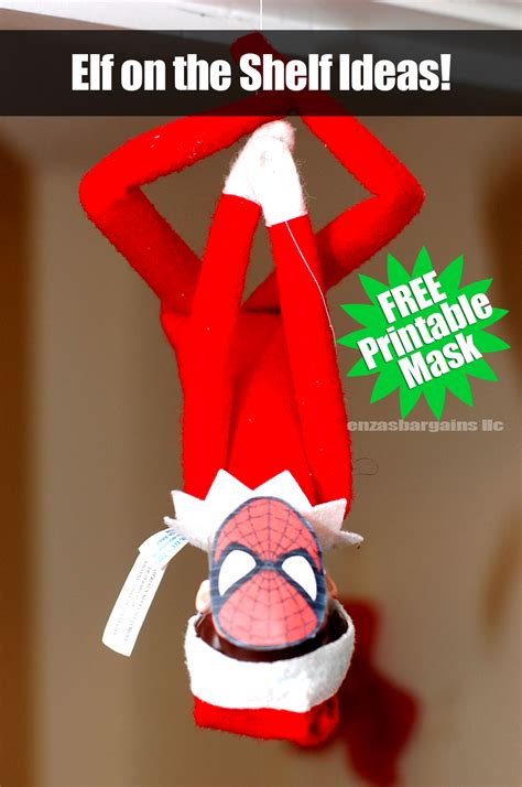 printable elf on the shelf mask elf on the shelf spider man mask free printable mask