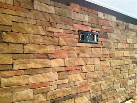 ceramictec interior stacked veneer accent wall