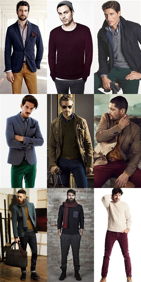 men s christmas colours inspired outfit inspiration