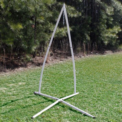 swing with stand white steel powder coated single swing hammock stand dfohome