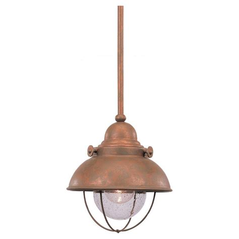 Sea Gull Lighting Sebring 1 Light Weathered Copper Outdoor Outdoor Lighting Copper