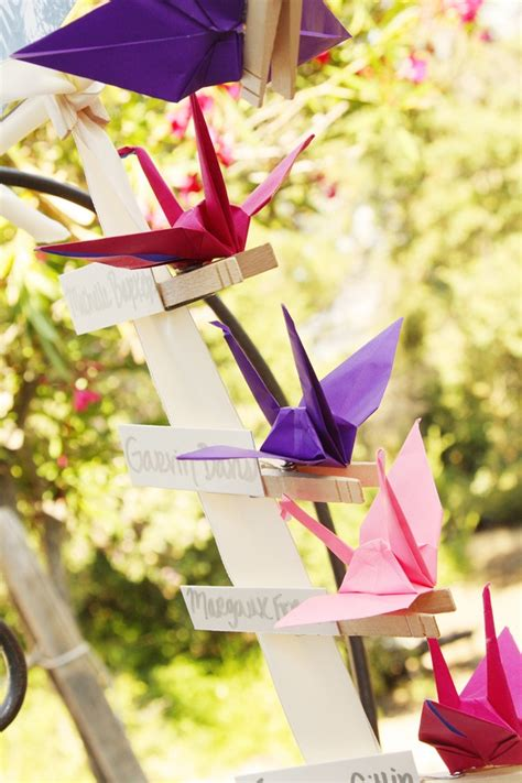 Wedding Origami Cranes - 184 best images about origami mariage on