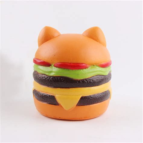 Squishy Burger Jumbo jumbo squishy cat burger rising soft animal