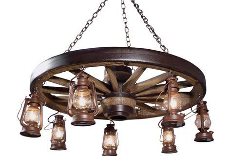European Chandelier Large Wagon Wheel Chandelier With Lanterns Cast Horn Designs