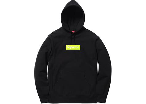 supreme box logo supreme box logo hooded sweatshirt fw17 black