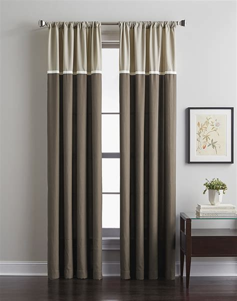 at home curtains accolade color block curtain panel curtainworks com