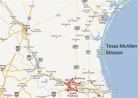 texas mission map idaho spud transplants about the texas mcallen mission