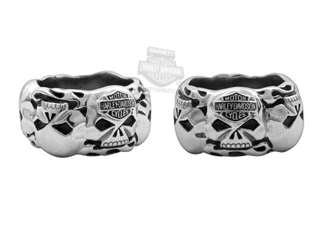hsr0019 harley davidson 174 mens steel willie g skull band